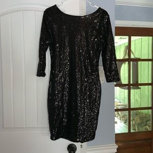 Black sequin dress semi formal